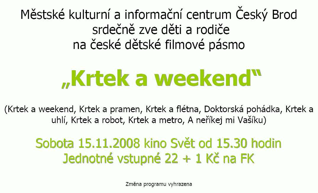Krtek a weekend